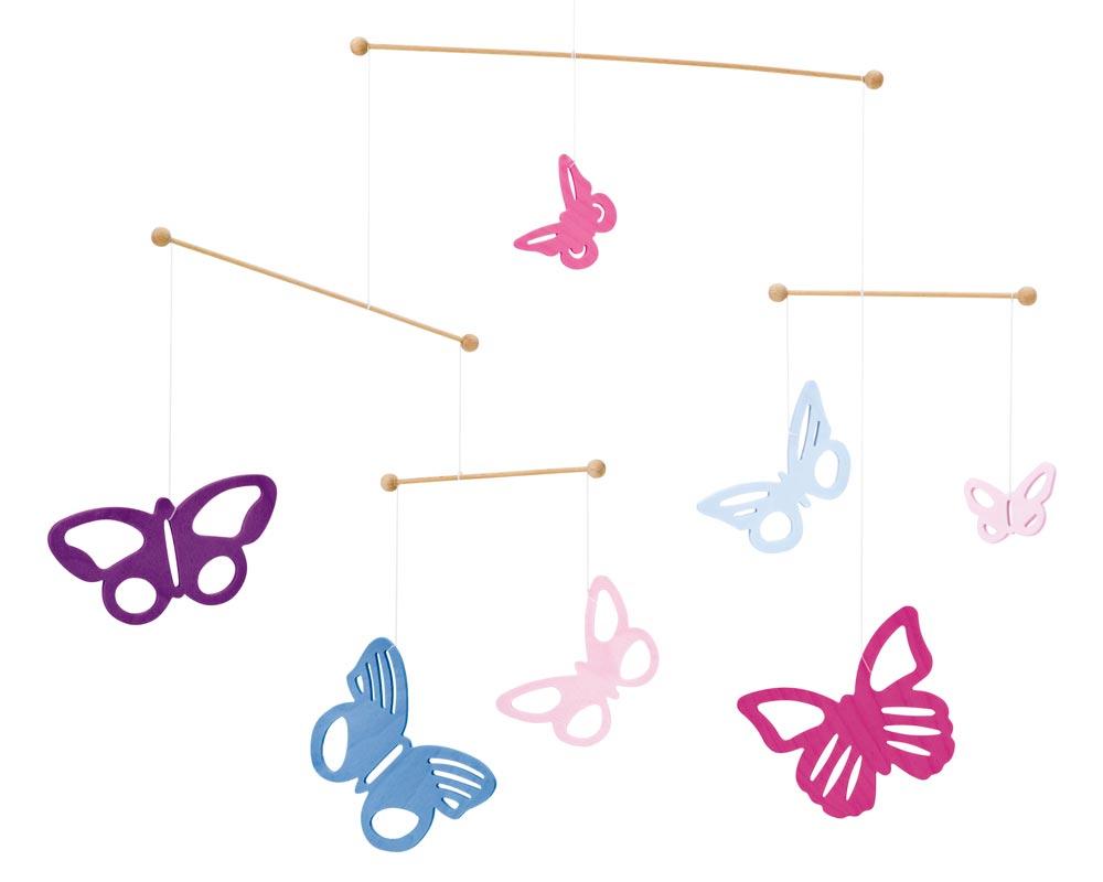 Holz Mobile Baby Schmetterlinge