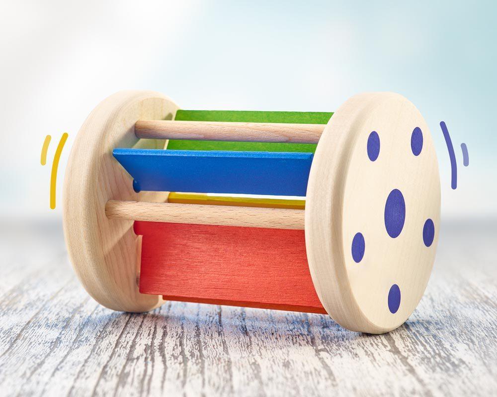 Holz buntes Rollspielzeug mit Klappergeräuschen