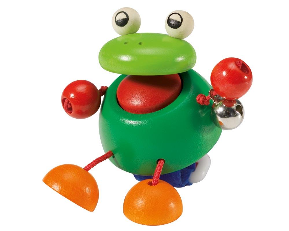 holz buggyspielzeug klettverschluss hupe