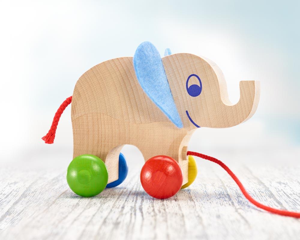 holz nachziehtier elefant yambo