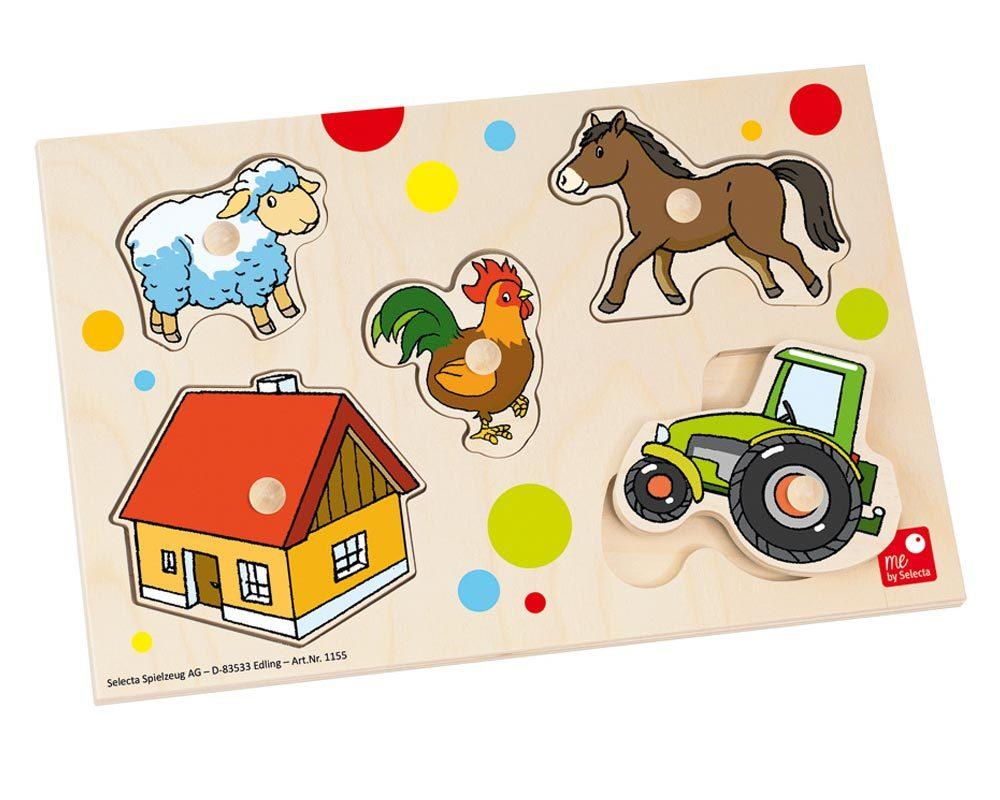 holz puzzle baby bauernhof