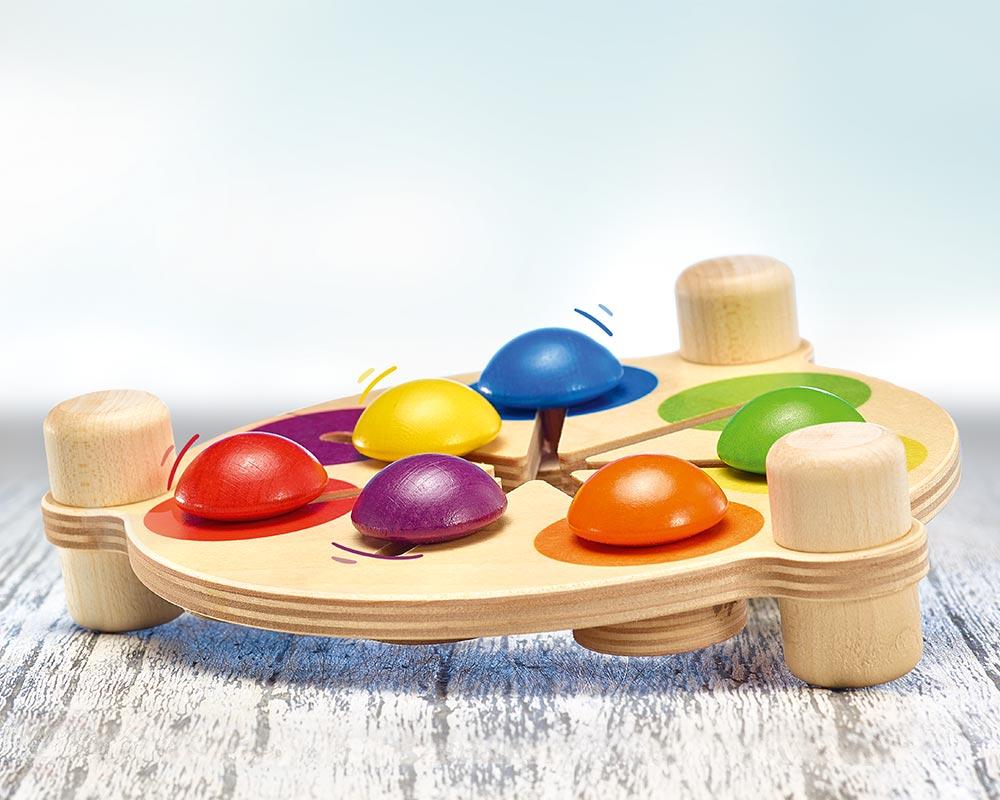 Holz buntes Motorik- und Geschicklichkeitsspiel mit verschiedenen Farben und Mustern