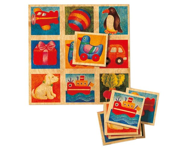 Holz buntes Bilderlotto mit verschiedenen Motiven