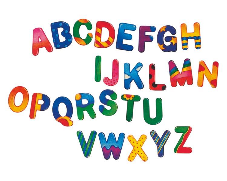 bunte Holzbuchstaben fürs Kinderzimmer, A-Z