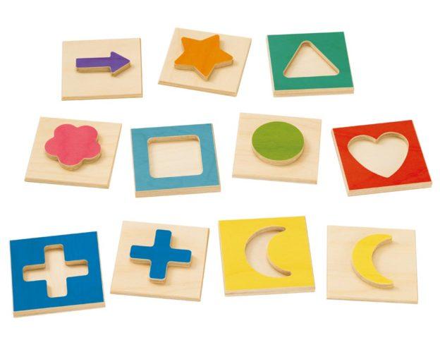 Holz bunt Steckspiel mit verschiedenen Motiven