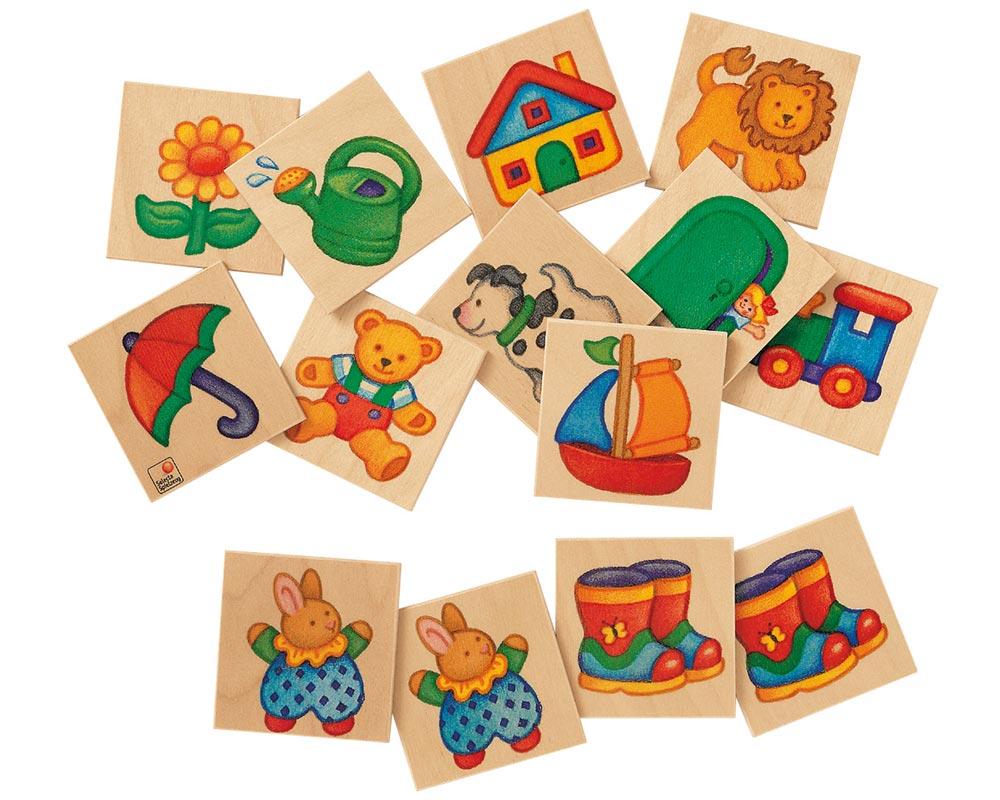 Holz Bildermemo mit verschiedenen Motiven