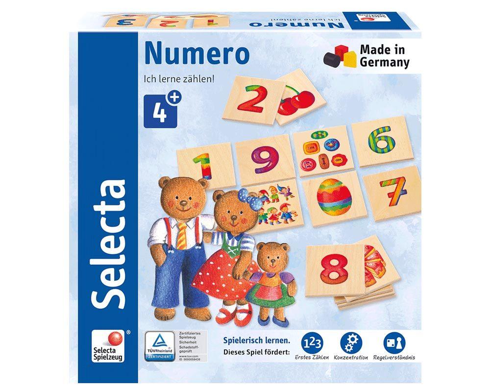 Holz Memo Numero Spiel Mit Zahlen 20 X 20 Cm Selecta Holzspielzeug