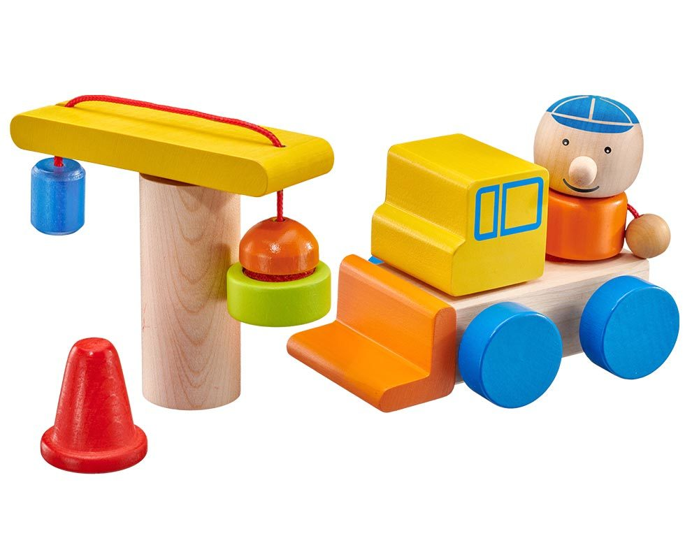 Holz Spielfigur Baustelle Klettspielzeug Fahrzeug