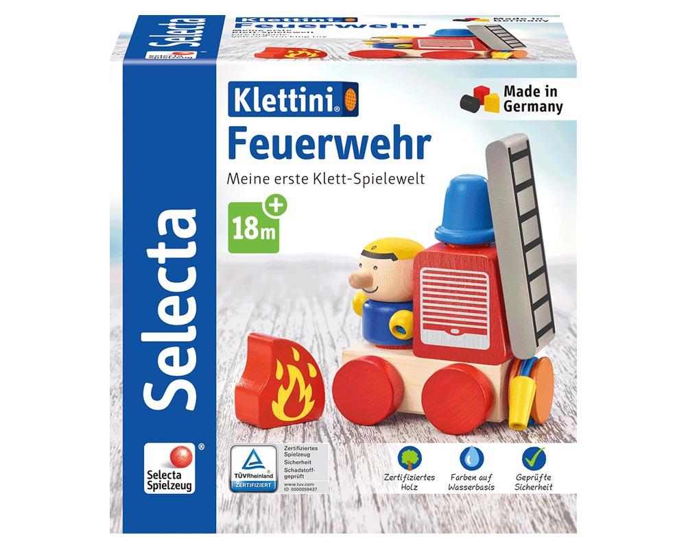 Verpackung holz spielfigur Feuerwehr Klettspielzeug Fahrzeug