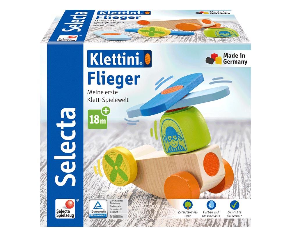 Verpackung holz spielfigur flieger Klettspielzeug fahrzeug