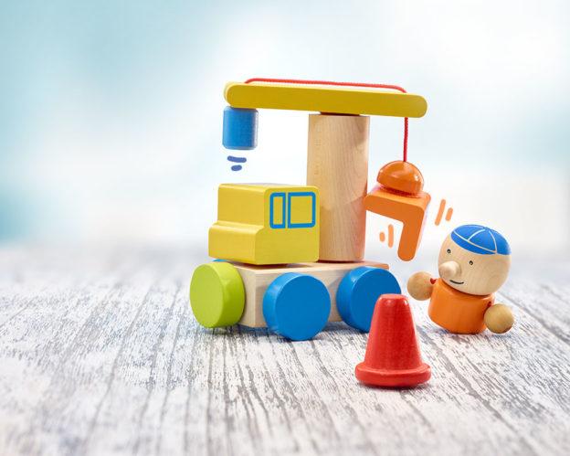 Holz Spielfigur Baustelle Klettini