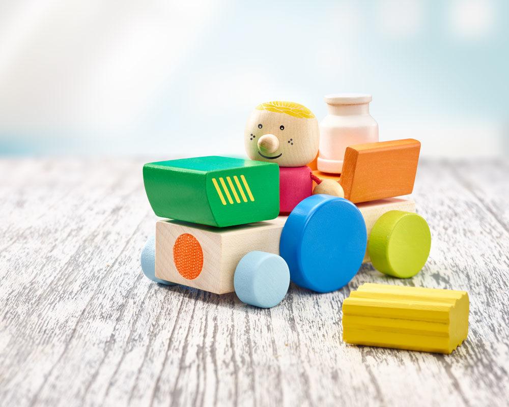 holz spielfigur Bauernhof Klettspielzeug Fahrzeug