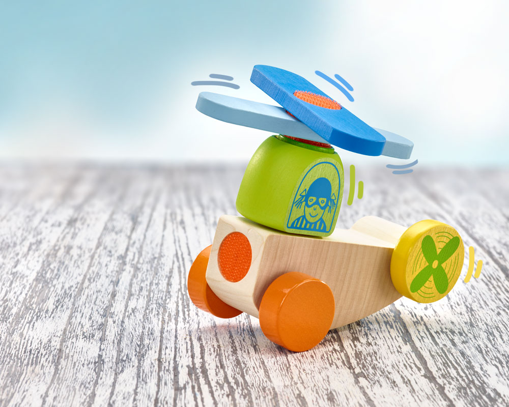 holz spielfigur flieger klettspielzeug fahrzeug