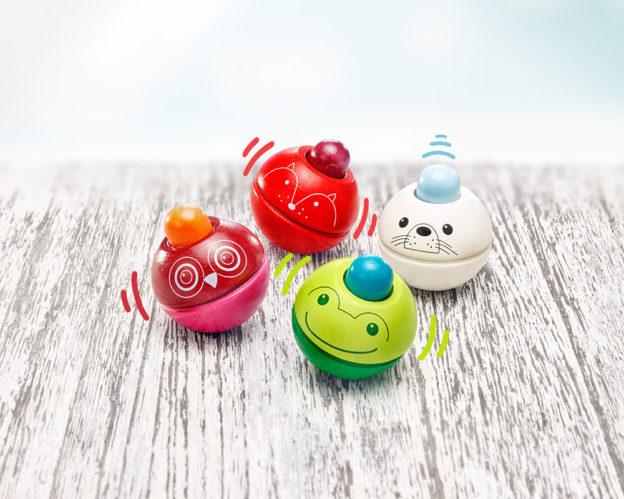 Holz Animino Spielzeug Quitschkugel Tiere