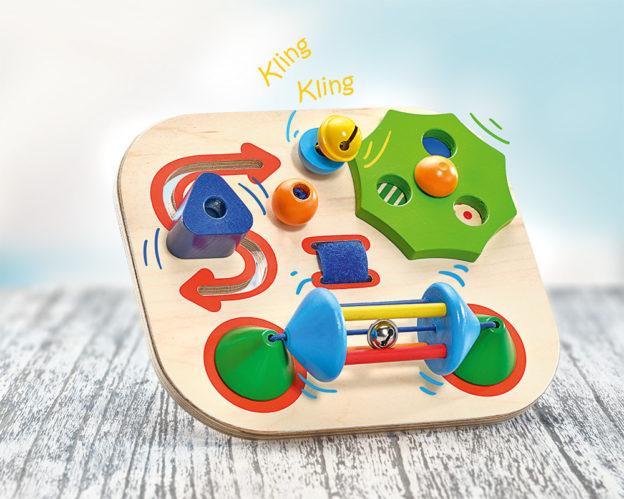 Carusello Motorikbrett Holz Spielzeug