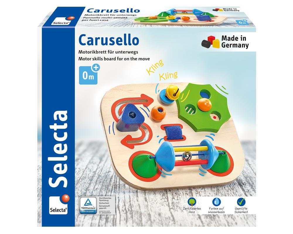 Verpackung Carusello Motorikbrett Holz Spielzeug