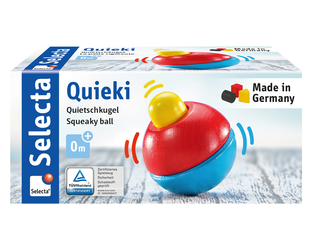 61069 Quieki Quietschkugel Holzspielzeug Packshot
