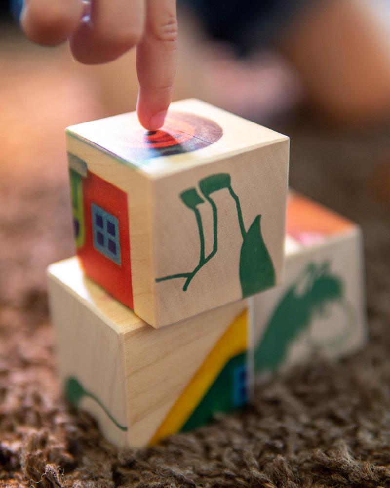 Bilderwürfel Farm Holzspielzeug Emotionen