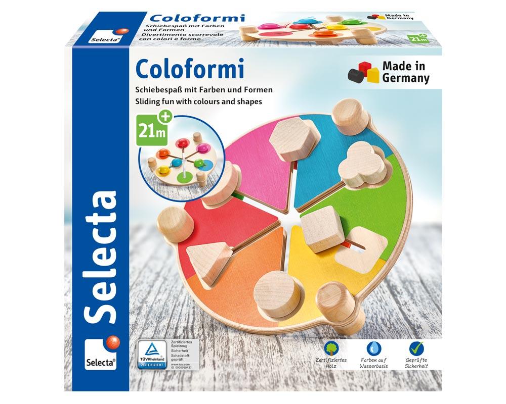 Verpackung Coloformi Schiebespaß Farben Formen