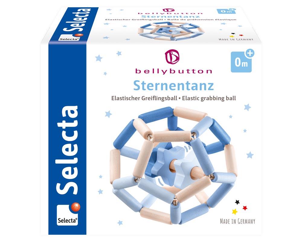 Bellybutton Sternentanz blau Holz Spielzeug Verpackung