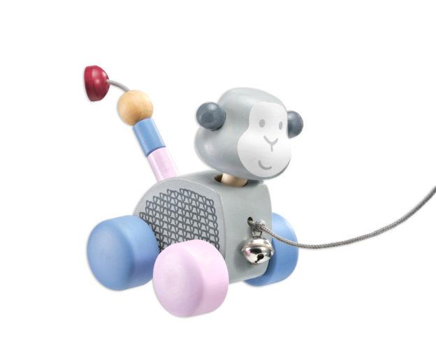 64025 bellybutton Nachziehtier Affe Holzspielzeug Bewegungsspiel für Kleinkinder