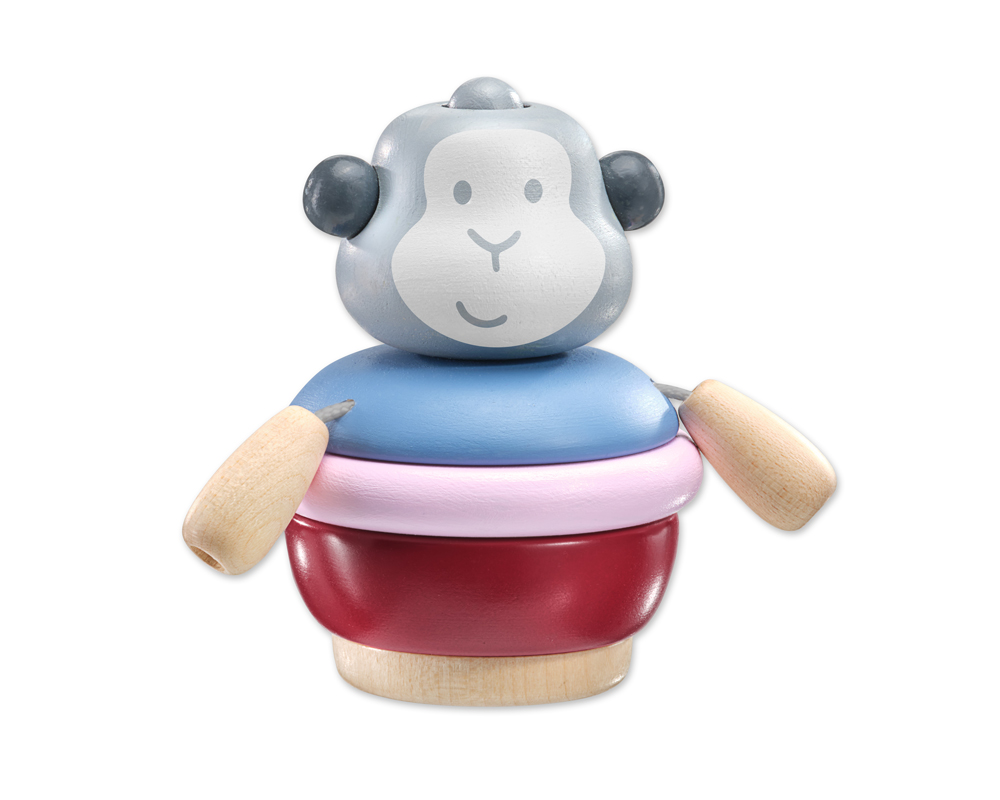 64026 bellybutton Stapeläffchen Holzspielzeug Konzentrationsspiel Gedächtnisspiel für Babys und Kleinkinder