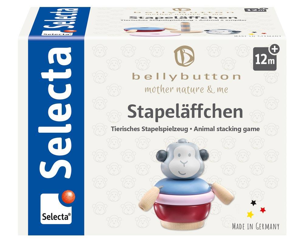 Verpackung Stapeltier Affe Holzspielzeug Konzentrationsspiel