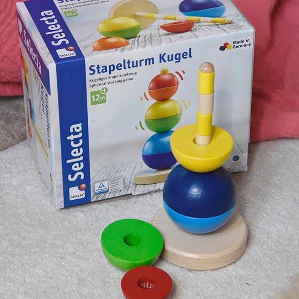Selecta Story oh wunderbar Kinder lernen im Spiel Stapelturm